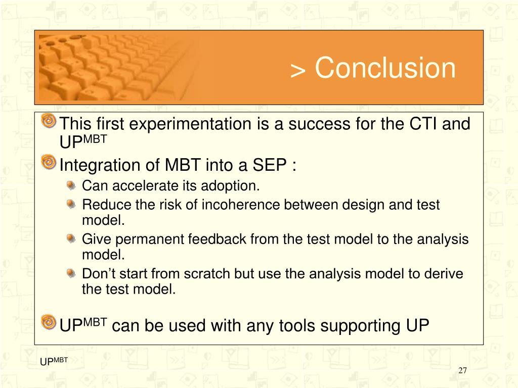 > Conclusion