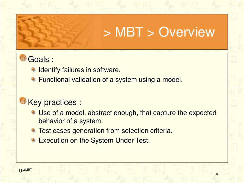 > MBT > Overview