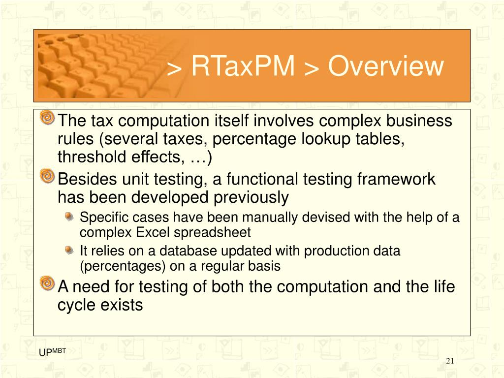> RTaxPM > Overview