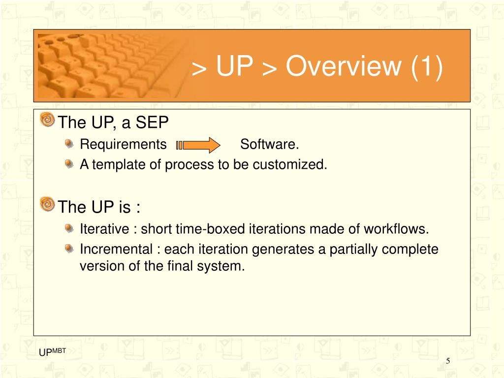 > UP > Overview (1)