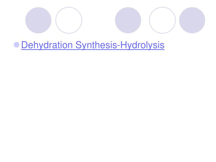 Dehydration Synthesis-Hydrolysis