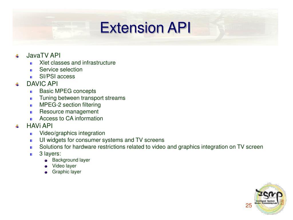 Extension API