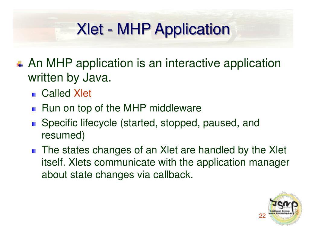 Xlet - MHP Application