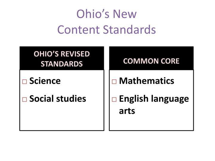 Ohio's New