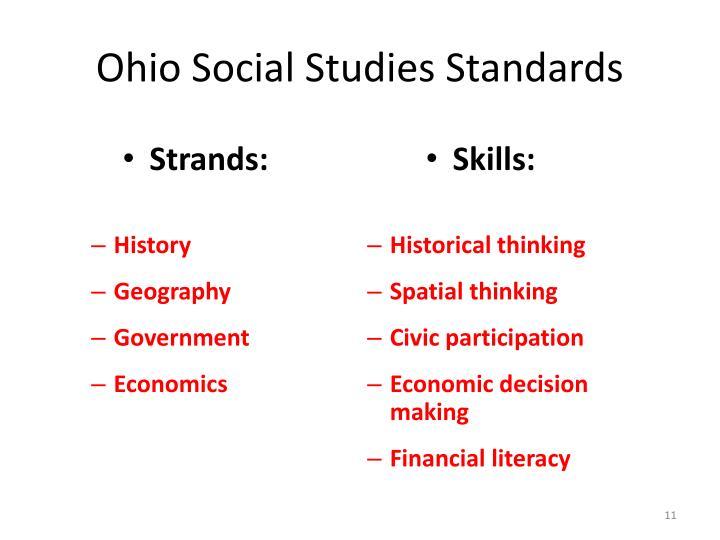 Ohio Social Studies Standards