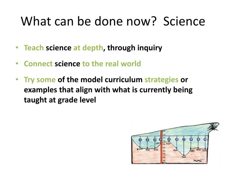 What can be done now?  Science
