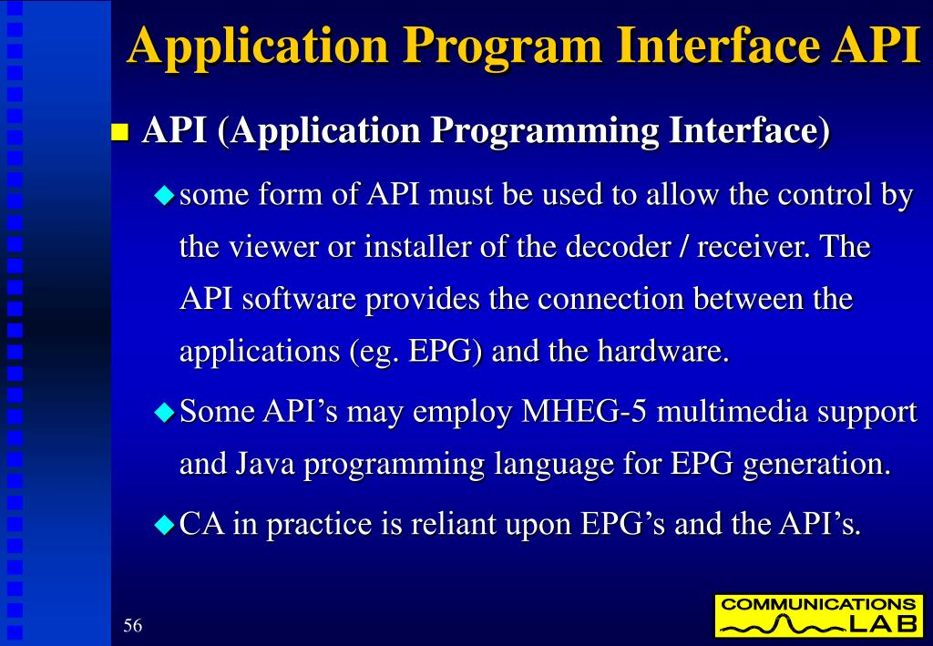 Application Program Interface API