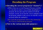 decoding the program