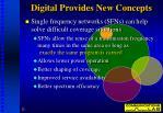 digital provides new concepts