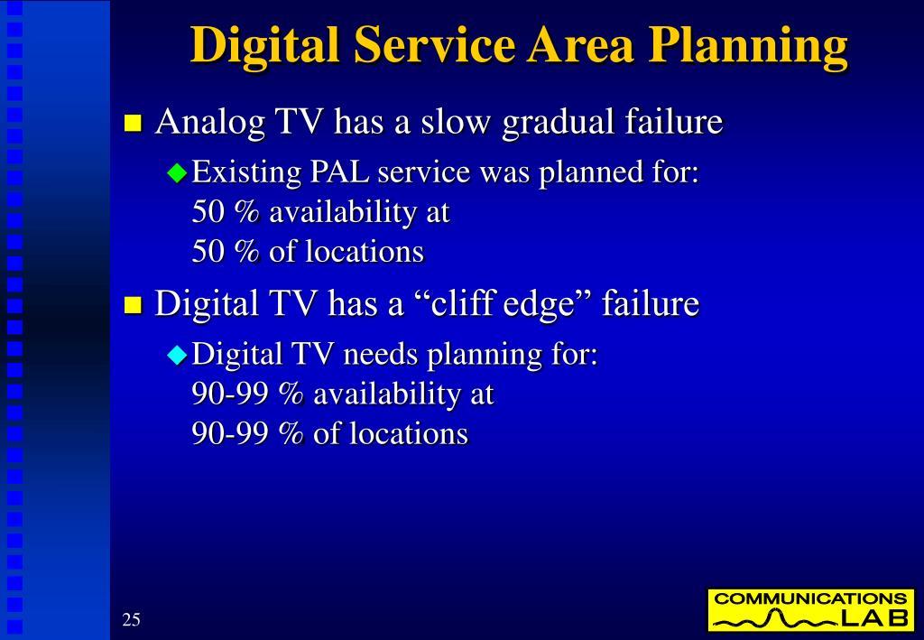 Digital Service Area Planning