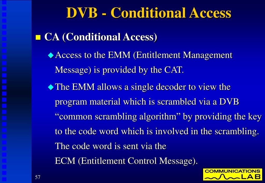 DVB - Conditional Access