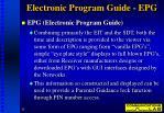 electronic program guide epg