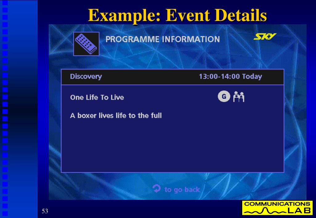 Example: Event Details