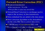 forward error correction fec