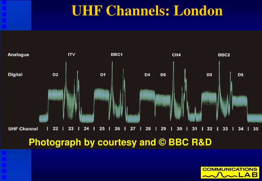 UHF Channels: London