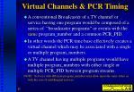 virtual channels pcr timing