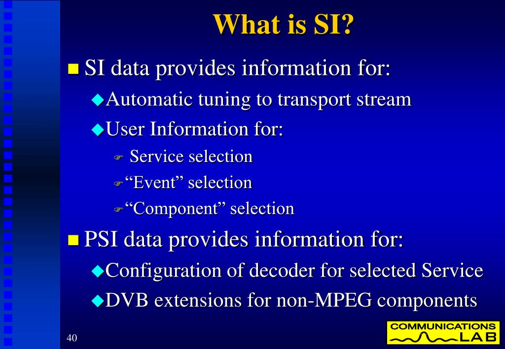 What is SI?