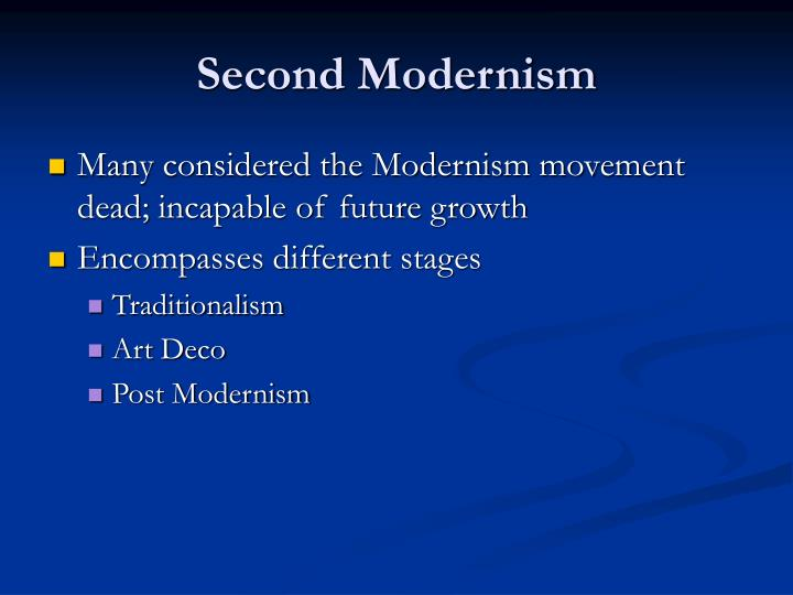 Second modernism