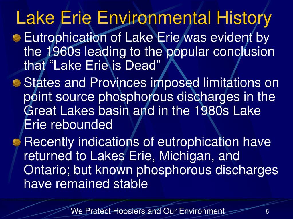 Lake Erie Environmental History