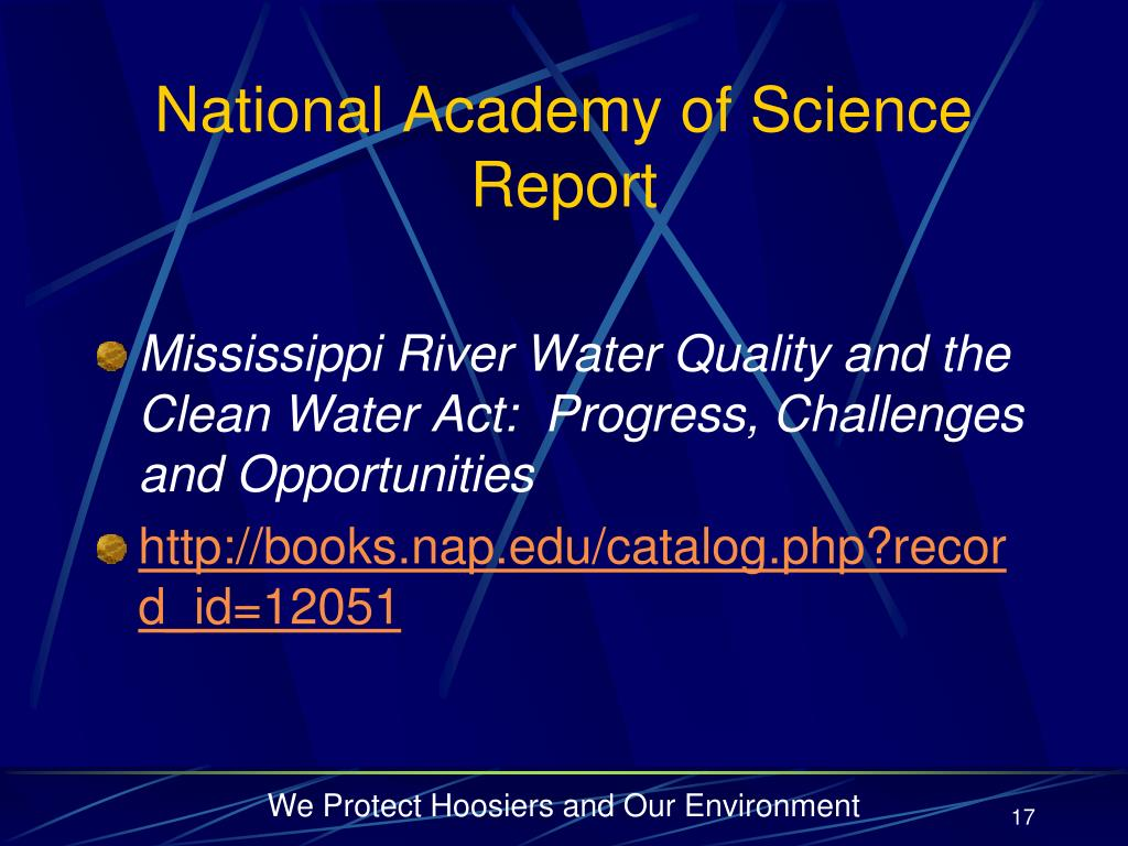 National Academy of Science Report