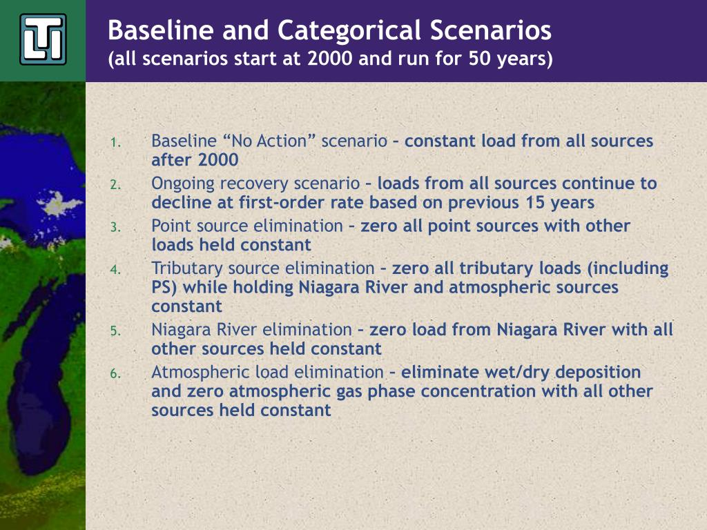 Baseline and Categorical Scenarios
