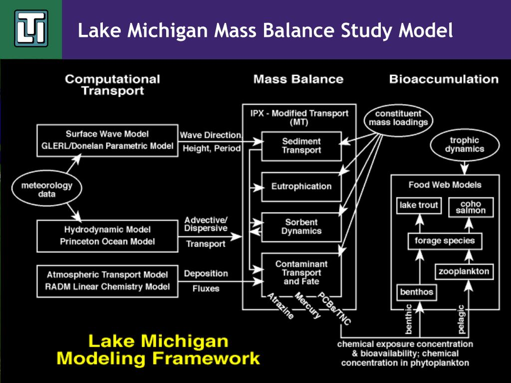Lake Michigan Mass Balance Study Model