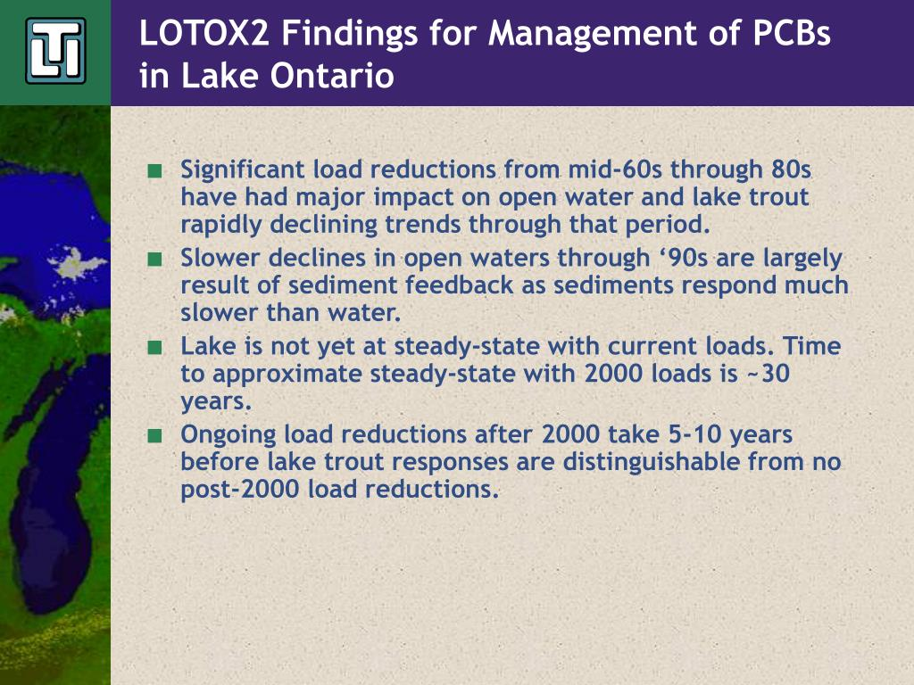 LOTOX2 Findings for Management of PCBs in Lake Ontario