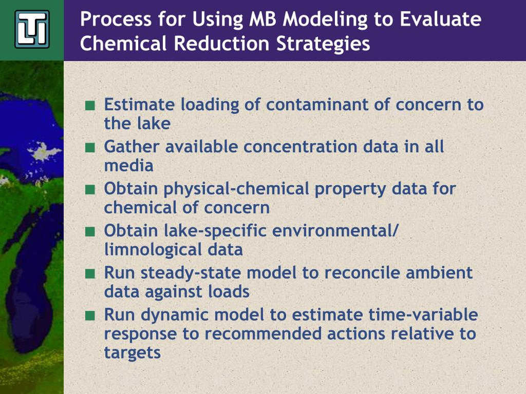 Process for Using MB Modeling to Evaluate Chemical Reduction Strategies