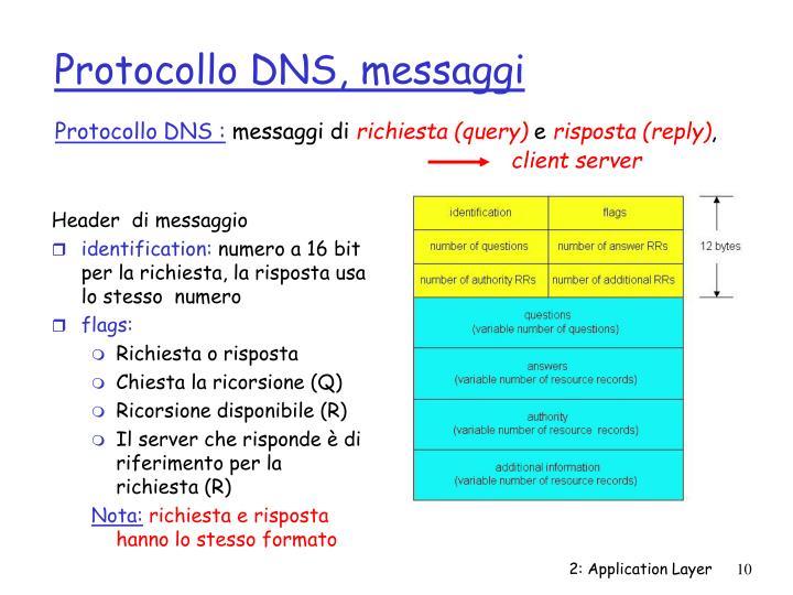 Protocollo DNS :