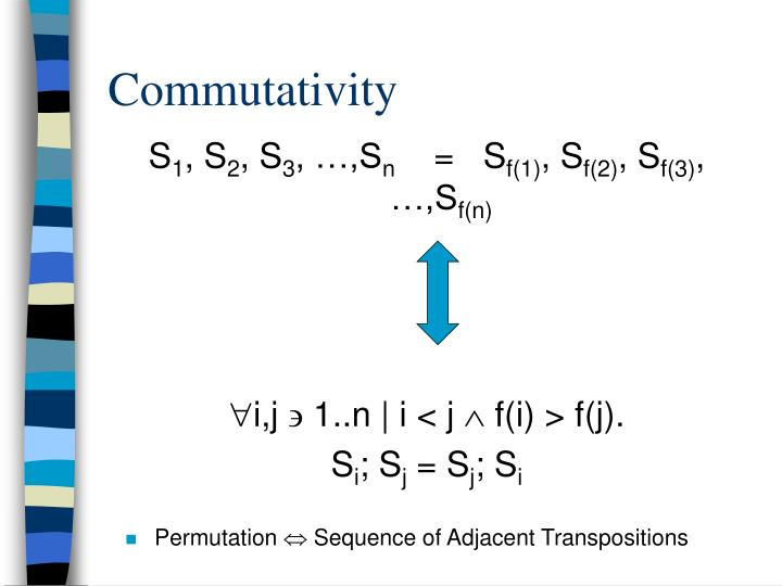 Commutativity