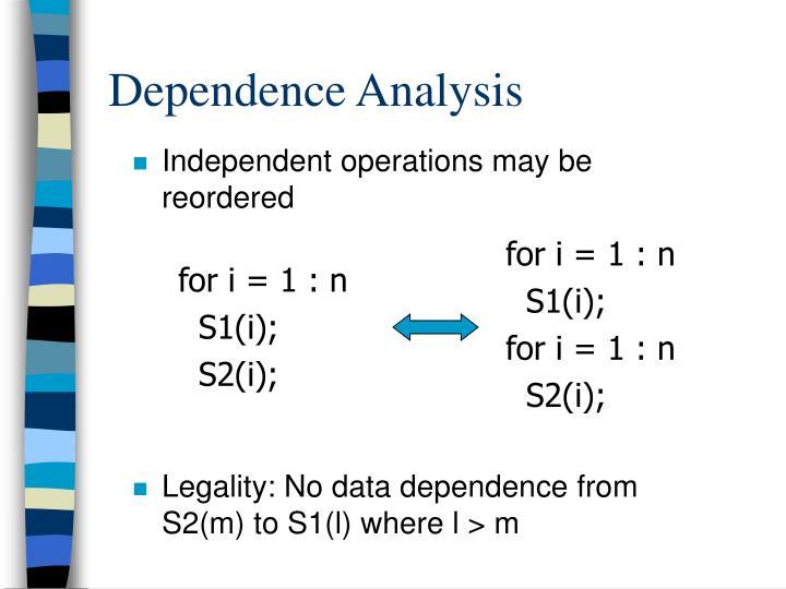 Dependence Analysis