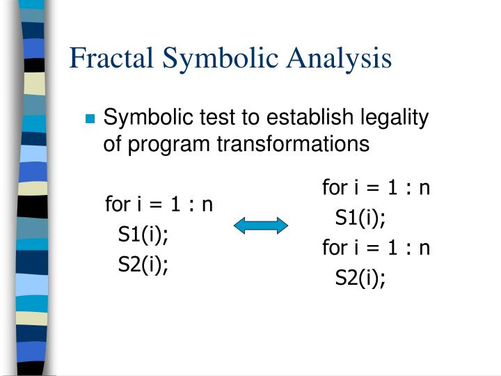 Fractal Symbolic Analysis