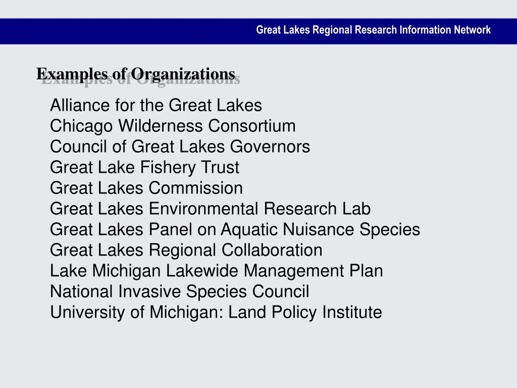 Examples of Organizations