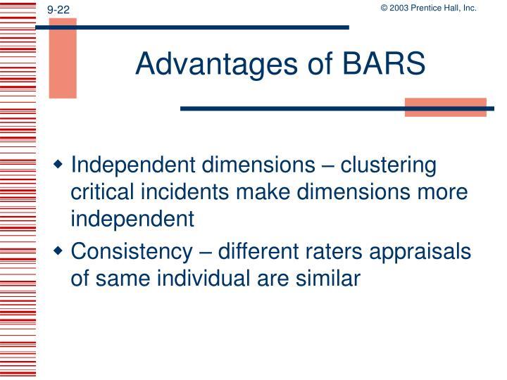 Advantages of BARS