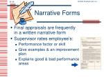 narrative forms