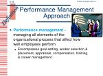 performance management approach
