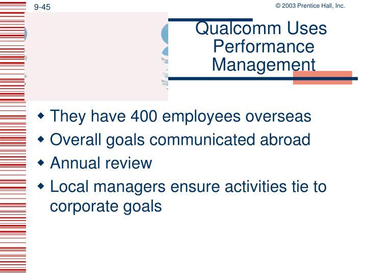 Qualcomm Uses