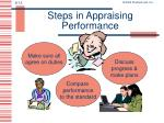 steps in appraising performance