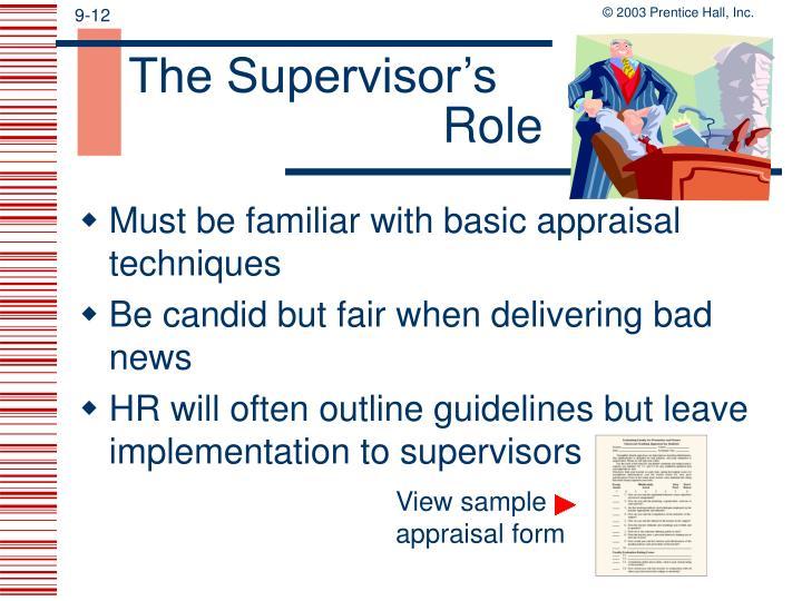 The Supervisor's