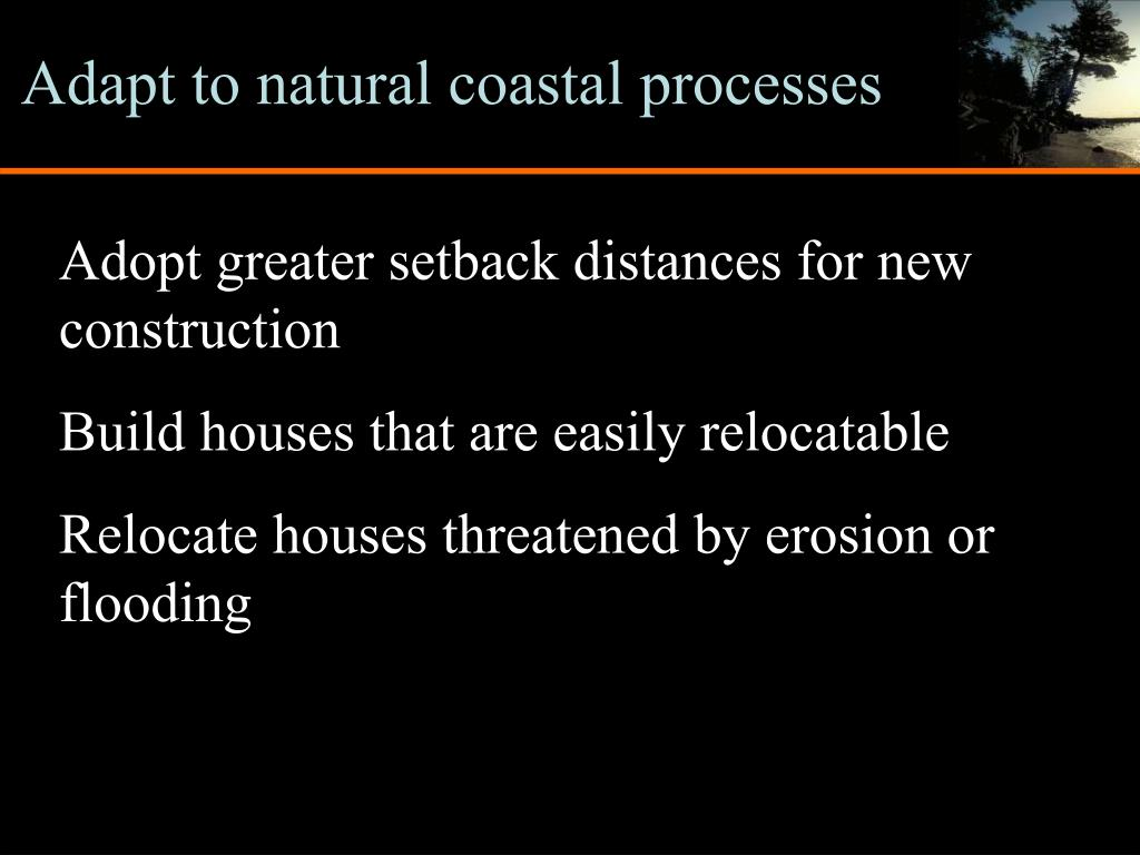 Adapt to natural coastal processes