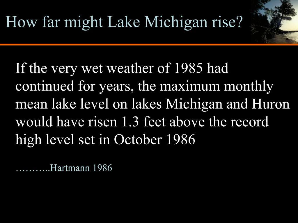 How far might Lake Michigan rise?