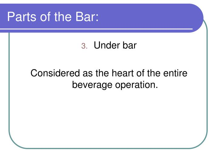 Parts of the Bar: