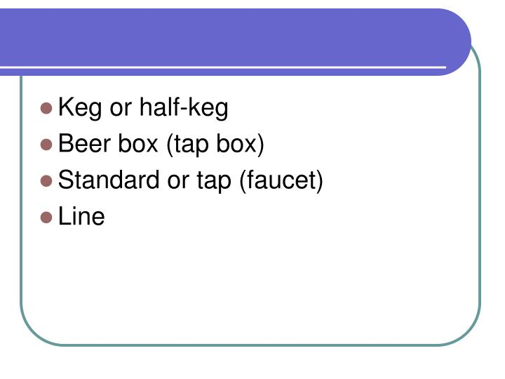 Keg or half-keg