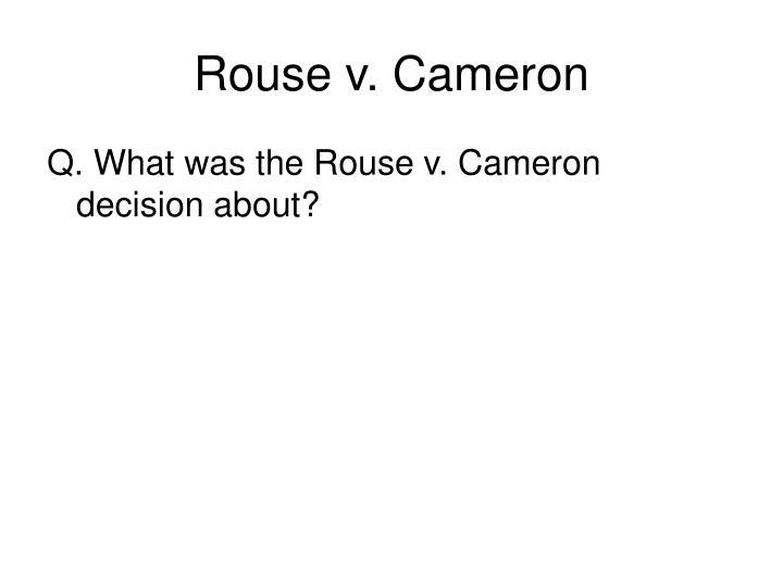 Rouse v. Cameron