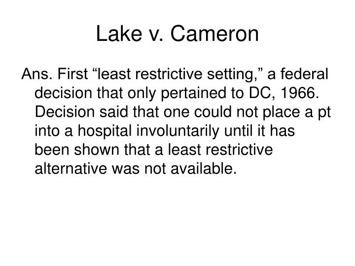 Lake v. Cameron