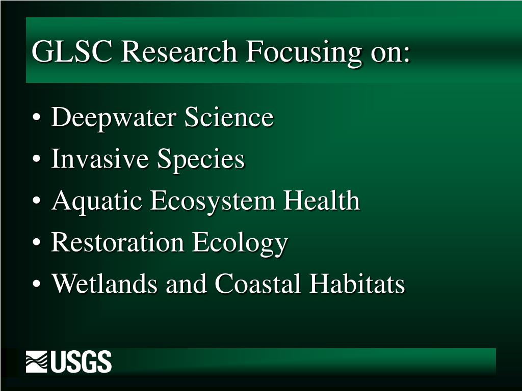 GLSC Research Focusing on: