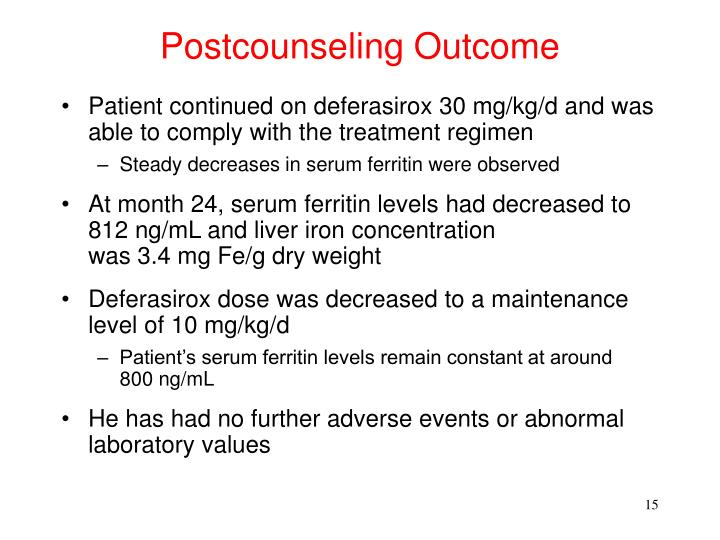 Postcounseling Outcome