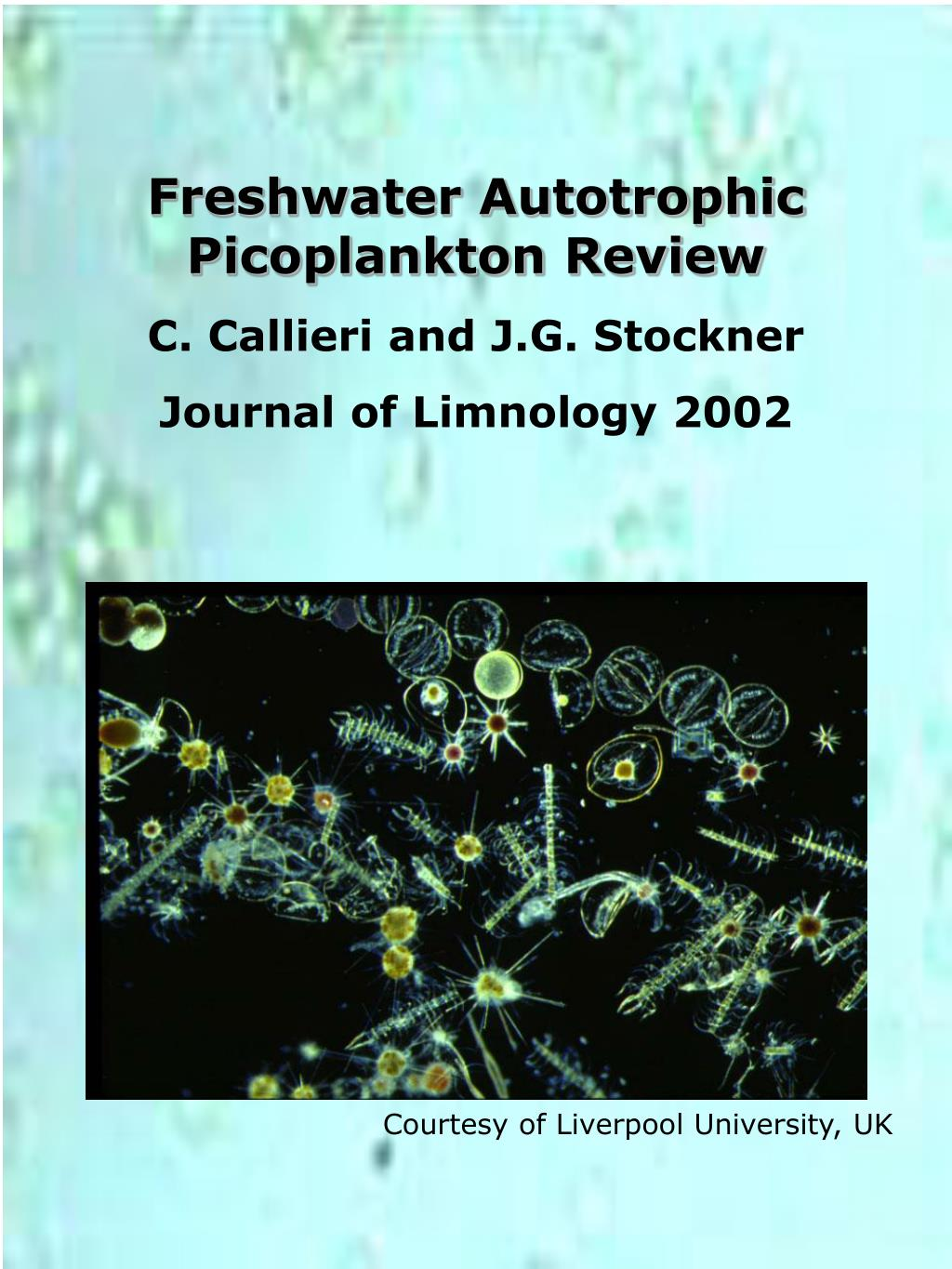Freshwater Autotrophic Picoplankton Review
