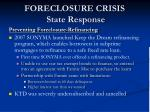 foreclosure crisis state response