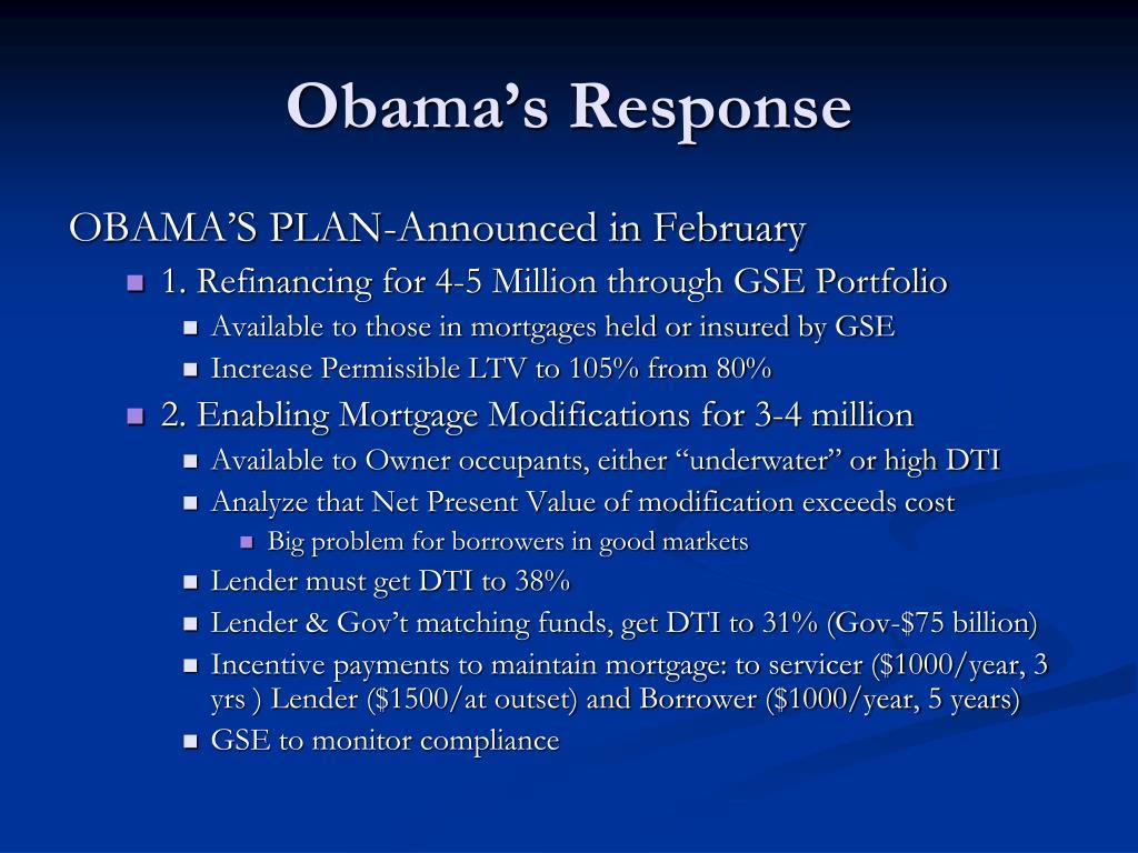 Obama's Response